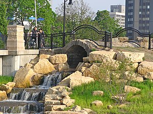 Boneyard Creek - Flood control park at 2nd St. and Springfield Ave.