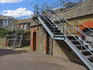 Gravesend - Another part of the northern area of New Tavern Fort, Milton, Gravesend
