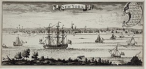 Early view of New York City harbor. From the T...