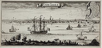History of New York City - View of New York Harbor, c. 1770