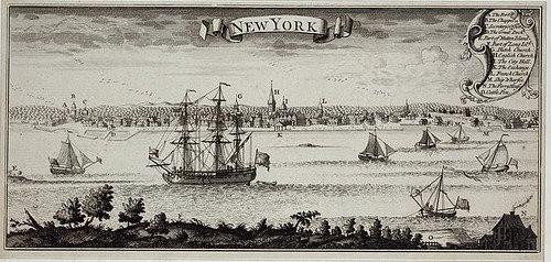 New York City harbor print