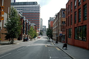 Newhall Street - The view south along Newhall Street from the Jewellery Quarter.