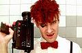 Nik Stamps in his music video.JPG