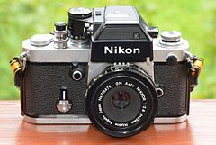 Nikon F2 SB SLR camera with GN Auto Nikkor 2,8 f=45mm lens.JPG