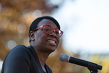Nina Turner, former state senator for Ohio's 25th district served as MC for the rally speaking at the People's Rally, Washington DC (31070090265).jpg
