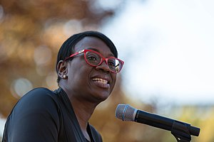 Nina Turner - Image: Nina Turner, former state senator for Ohio's 25th district served as MC for the rally speaking at the People's Rally, Washington DC (31070090265)