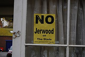 Jerwood Gallery - An anti-Jerwood poster in the Old Town.