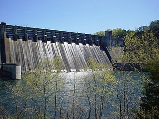 Norfork Dam dam in Baxter County, Arkansas, United States of America