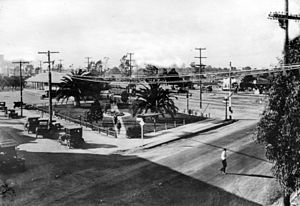 Lankershim Boulevard - Pacific Electric station at Lankershim and Chandler, 1919