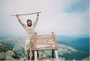 Thru-hiking - A hiker who has just completed the Appalachian Trail