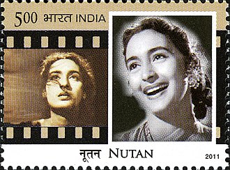 Nutan - Nutan on a 2011 stamp of India