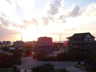 Avon, North Carolina - Sunset over the northern outskirts of Avon