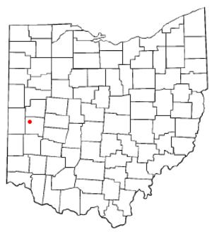 Covington, Ohio - Image: OH Map doton Covington