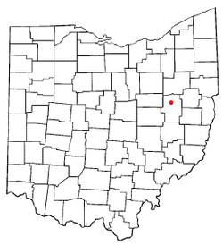 Location of Dover, Ohio