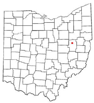 Dover, Ohio - Image: OH Map doton Dover