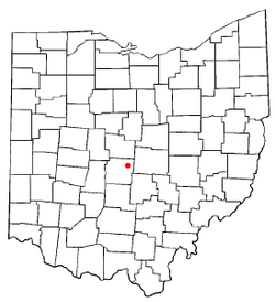 Location of Gahanna within Ohio