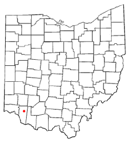 Location of Owensville, Ohio