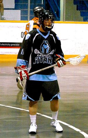 OLA Senior B Lacrosse League - Oakville Titans' Mark Runciman in 2014.