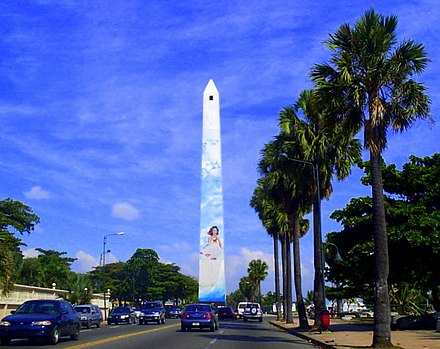 El Malecon av. in Santo Domingo Obelisco Santo Domingo.jpg