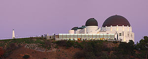 Griffith Observatory - Side view of the Observatory in 2007 after renovations