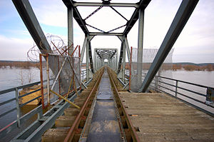 Wriezen Railway - View over the Oden bridge