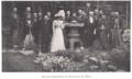 Odilon Lannelongue et sa niece Marie Lonnelongue entourés de professeurs de l'Université de Tokyo (Mars 1909).png