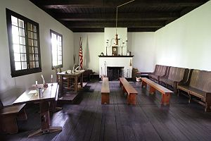 Old Cahokia Courthouse - Old Cahokia Courthouse interior, which had a very small courtroom