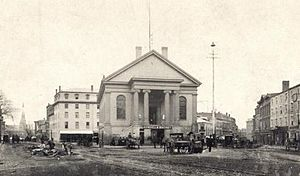 Neal Dow - Portland's City Hall, site of the rum riot