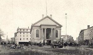 Portland Rum Riot - Portland's City Hall, site of the rum riot