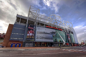 Trafford - The East Stand of Old Trafford football ground