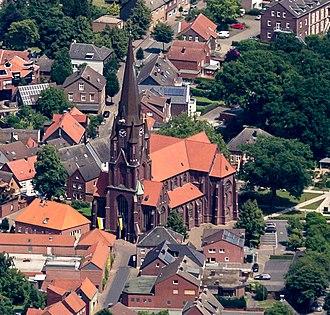 Olfen - Olfen with St.-Vitus-church