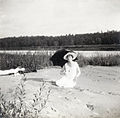 Olga Nikolaevna of Russia on the banks of the Dnieper River.jpg