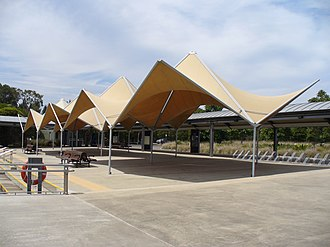 Parramatta River ferry services - Image: Olympic Park Wharf 2