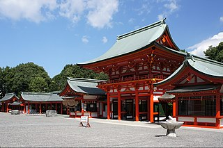 Shrine in Otsu, Shiga prefecture, Japan