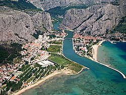 Omiš from the air