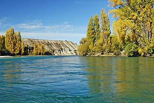 Clutha River - On the Clutha River at Albert Town, near Lake Wanaka, Central Otago