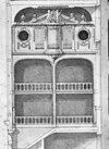 ontwerp tekening orgelwand in kapel, detail uit doorsnede - amsterdam - 20014562 - rce
