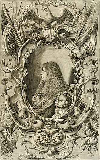 Alfonso IV d'Este, Duke of Modena - Engraving of Alfonso IV (Lorenzo Tinti)