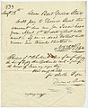 Order of Nathaniel Pope, Steam Boat Yellow Stone, on P. Chouteau, Jr. to pay Thomas Short for hire of negro boy, August 15, 1833.jpg