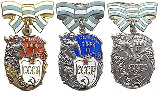 Order of Maternal Glory Soviet decoration honouring mothers of large families.