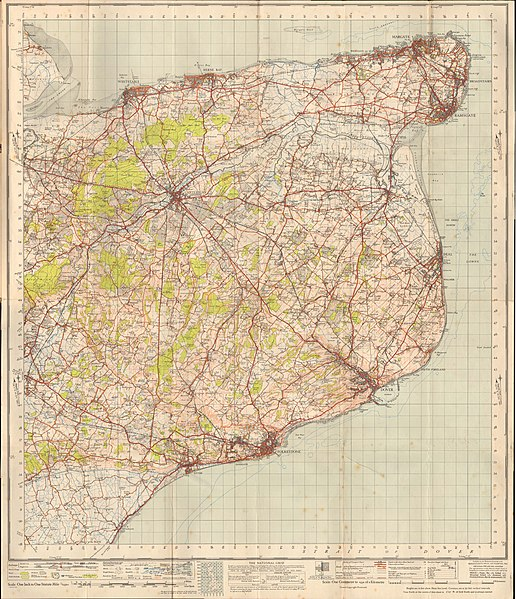 File:Ordnance Survey One-Inch Sheet 173 East Kent, Published 1945.jpg