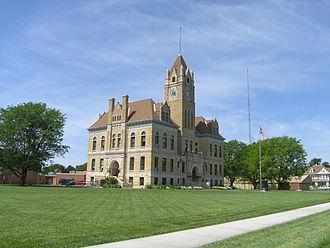 Osborne County, Kansas - Image: Osborne County Courthouse, Osborne, KS