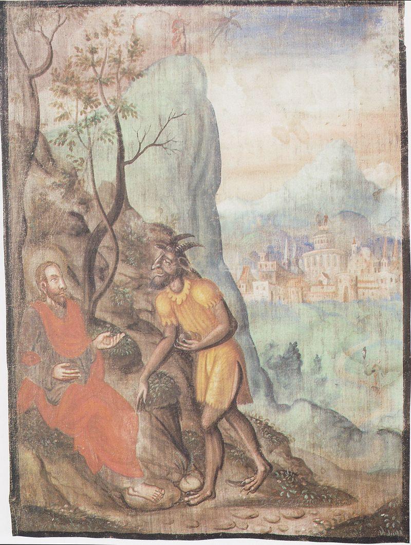 Oswalt Kreusel - Millstätter Fastentuch - Die Versuchung Jesu.jpeg