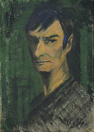 Otto Mueller - Otto Müller, Self-Portrait, c. 1921, tempera on canvas, 66 x 47.9 cm, Saint Louis Art Museum