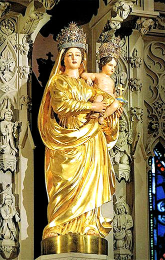 Our Lady of Prompt Succor - The Canonically crowned image enshrined in the high altar