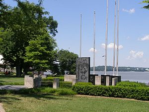 Owensboro, Kentucky - Military memorial on the riverfront