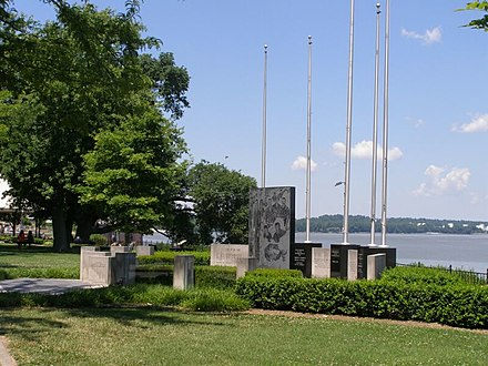 Military memorial on the riverfront Owensboro KY Military Memorial.JPG