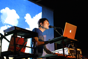 Owl City performing at the Bowery Ballroom in 2009