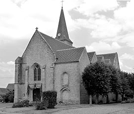 The church in Louville-la-Chenard