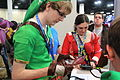 PAX South 2015 - Link cosplayer with DS (16352727415).jpg